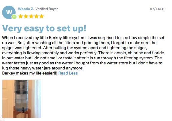 berkey fluoride filter reviews