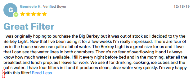 berkey light reviews