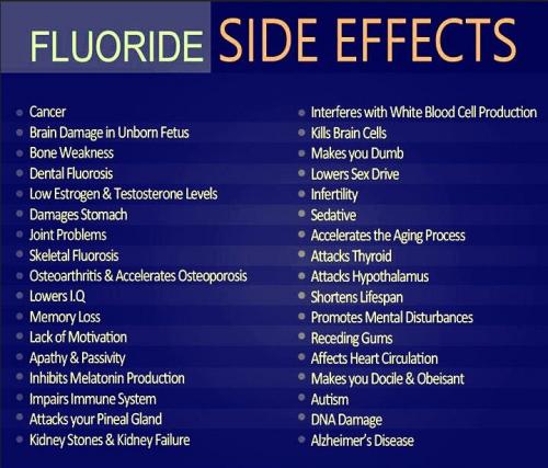 side effects from fluoride